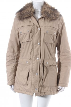 Tom Tailor Winterjacke beige-schwarz Casual-Look