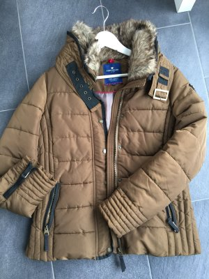TOM TAILOR Winterjacke Gr. M - Cognac