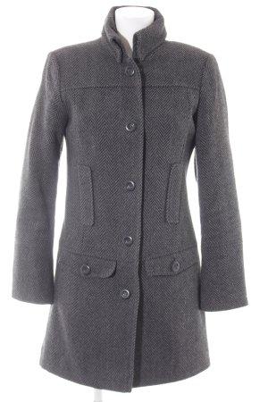 Tom Tailor Abrigo de lana gris antracita-negro estampado de zigzag