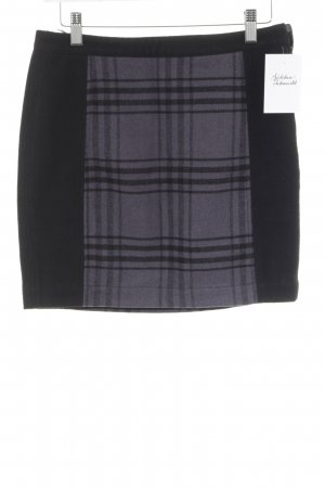 Tom Tailor Wool Skirt black-grey violet check pattern casual look