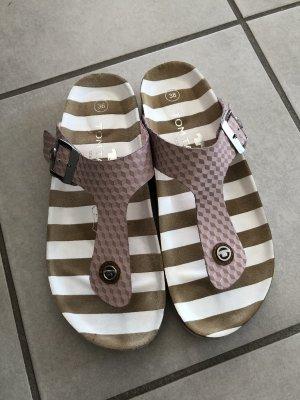 Tom Tailor High-Heeled Toe-Post Sandals pink