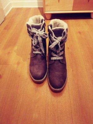 Tom Tailor Low boot gris brun