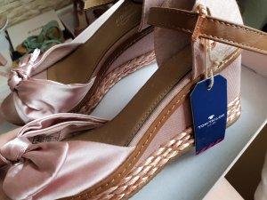 Tom Tailor Platform High-Heeled Sandal rose-gold-coloured