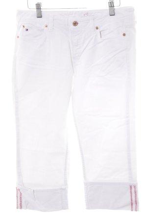 Tommy Hilfiger 3/4 Jeans weiß-rot klassischer Stil