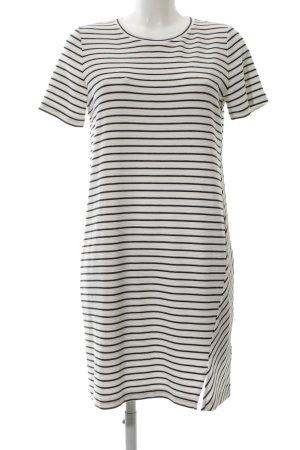 Tommy Hilfiger A-Linien Kleid weiß-schwarz Streifenmuster schlichter Stil