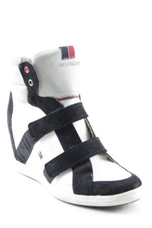 Tommy Hilfiger Absatz Sneaker mehrfarbig Marine-Look
