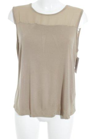 Tommy Hilfiger ärmellose Bluse beige Casual-Look