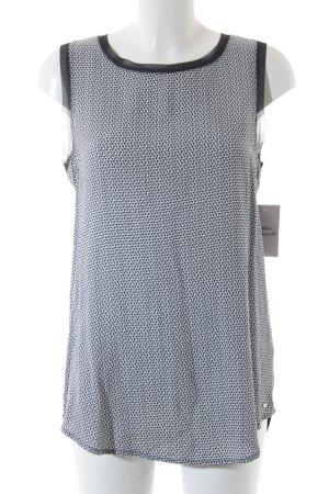 Tommy Hilfiger ärmellose Bluse blau-weiß Mustermix klassischer Stil