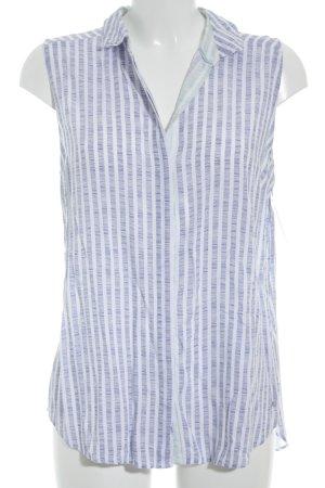 Tommy Hilfiger ärmellose Bluse blau-weiß Streifenmuster Elegant