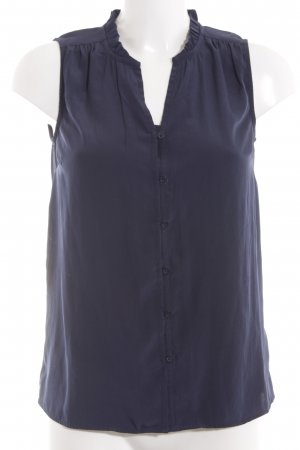 Tommy Hilfiger ärmellose Bluse blau Business-Look