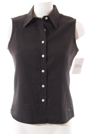 Tommy Hilfiger ärmellose Bluse schwarz schlichter Stil