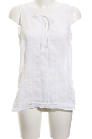 Tommy Hilfiger ärmellose Bluse weiß Elegant