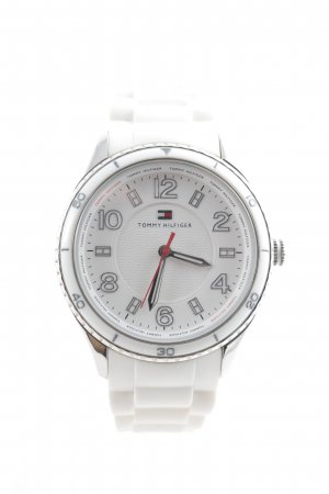 Tommy Hilfiger Reloj analógico blanco-color plata estilo deportivo