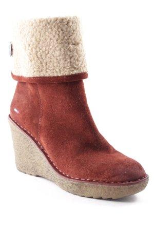 Tommy Hilfiger Low boot rouge foncé-chameau style décontracté
