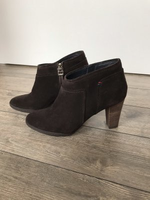 Tommy Hilfiger Ankle Boots dark brown suede