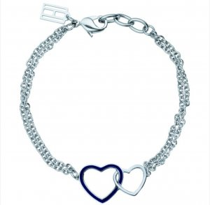Tommy Hilfiger Armband- Herz silber/blau/weiss