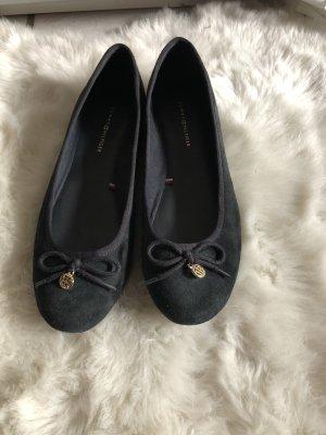 Tommy Hilfiger Patent Leather Ballerinas dark blue