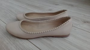 Tommy Hilfiger Ballerinas Gr. 37 Echtleder gold beige wie neu