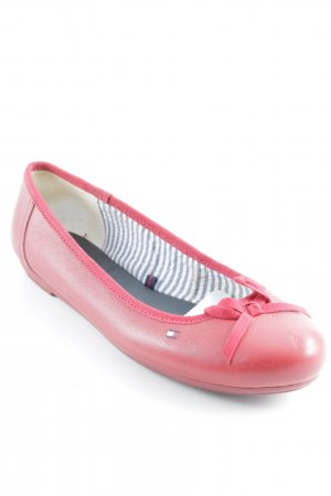 Tommy Hilfiger Ballerinas mit Spitze rot Casual-Look