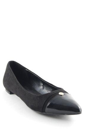 Tommy Hilfiger Ballerinas mit Spitze schwarz Casual-Look