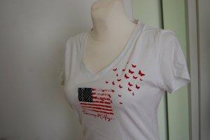 Tommy Hilfiger, Basic T-Shirt V-Ausschnitt, Gr M
