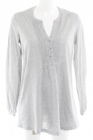 Tommy Hilfiger Basic Top grau-hellgrau meliert Casual-Look