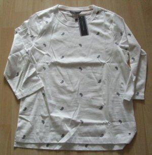 TOMMY HILFIGER  Baumwoll-Shirt mit 3/4-Ärmeln  - GR. XL - NEU
