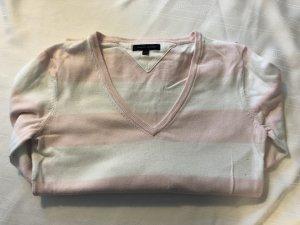 Tommy Hilfiger Jersey largo blanco-rosa empolvado Algodón