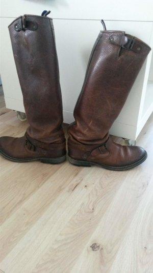 Tommy Hilfiger Bottes à l'écuyère brun cuir