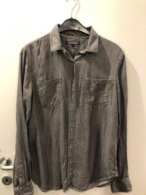 Tommy Hilfiger Blusa de manga larga gris oscuro