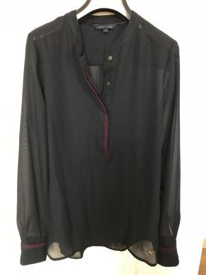 Tommy Hilfiger Bluse, dunkelblau, leicht transparent, wie neu