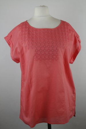 Tommy Hilfiger Short Sleeved Blouse bright red cotton