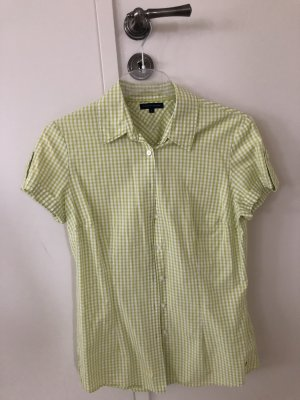 Tommy Hilfiger Geruite blouse wit-lichtgroen
