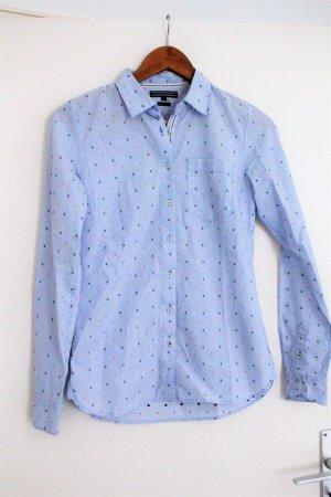 Tommy Hilfiger Blouse-chemisier bleu azur-rouge coton