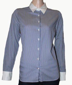 TOMMY HILFIGER Bluse Hemd blau weiß gestreift Gr. 38
