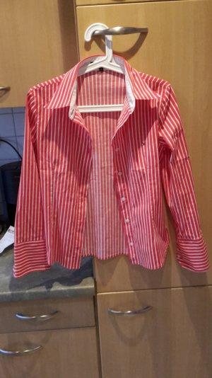 Tommy Hilfiger Bluse rot/weiß gestreift Größe S/M