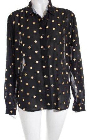Tommy Hilfiger Blusa negro-color oro estampado a lunares estilo clásico
