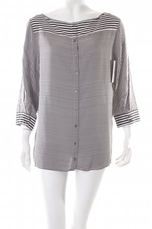 Tommy Hilfiger Bluse schwarz-weiß klassischer Stil