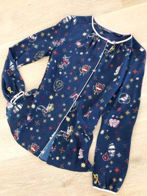 Tommy Hilfiger Zijden blouse donkerblauw