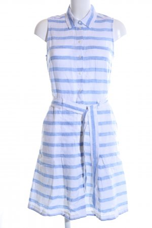 Tommy Hilfiger Blusenkleid weiß-blau Streifenmuster Casual-Look