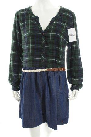 Tommy Hilfiger Blusenkleid dunkelblau-waldgrün Karomuster