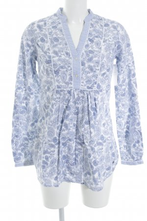 Tommy Hilfiger Blusenkleid stahlblau-weiß abstraktes Muster Casual-Look