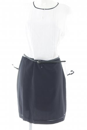 Tommy Hilfiger Robe chemisier blanc-bleu foncé style marin