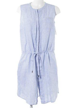 Tommy Hilfiger Blusenkleid wollweiß-kornblumenblau Streifenmuster Casual-Look