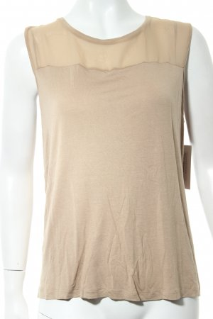 Tommy Hilfiger Blusentop beige Materialmix-Look