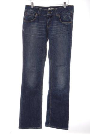 Tommy Hilfiger Boot Cut Jeans blau Used-Optik