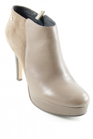 Tommy Hilfiger Booties hellbraun Business-Look