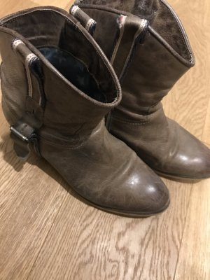 Tommy Hilfiger Western Booties light brown-grey brown leather