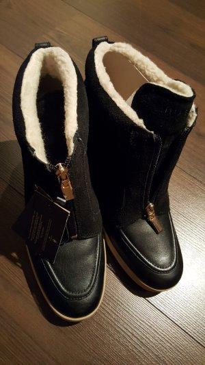 Tommy Hilfiger Boots Wedges Gr 41 schwarz gefüttert Neu mit Etikett