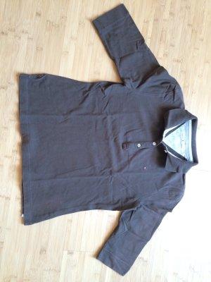 Tommy Hilfiger - braunes Poloshirt mit 3/4 Arm